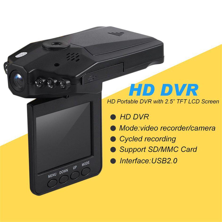 Máy ghi hành hành hình màn hình 2.5inch Full HD 1080P tầm hình đêm góc quay rộng cho ô tô