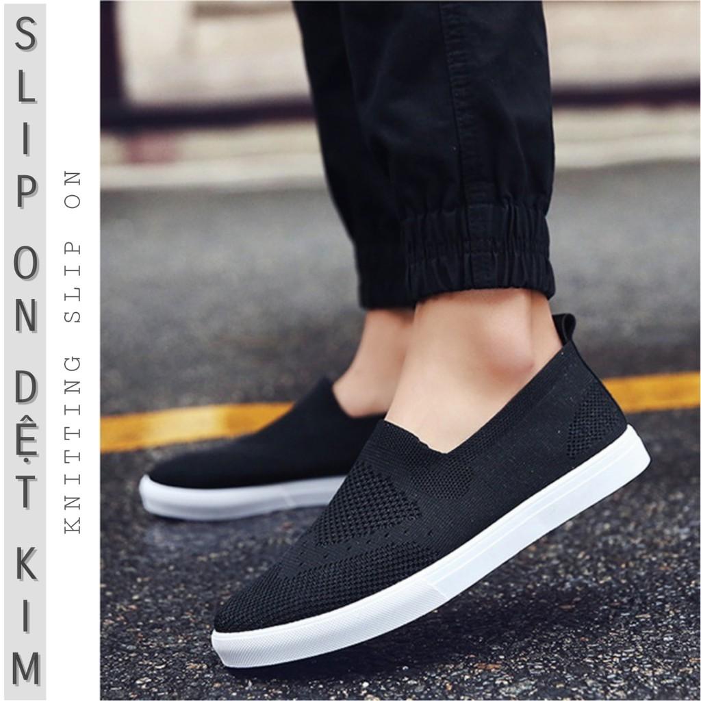 Slip On nam | Giày lười vải nam - Vải dệt kim màu đen - Mã SP: 9093 - 10006522 , 813071370 , 322_813071370 , 300000 , Slip-On-nam-Giay-luoi-vai-nam-Vai-det-kim-mau-den-Ma-SP-9093-322_813071370 , shopee.vn , Slip On nam | Giày lười vải nam - Vải dệt kim màu đen - Mã SP: 9093