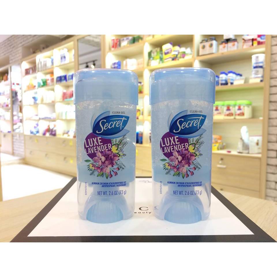 Lănkhử mùi Secret Clear Gel Luxe Lavender 73g