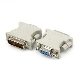 Đầu chuyển DVI 24+5 ra VGA cho card màn hình gtx750ti và 1 số card đời mới sau này có cổng DVI 24+1 pin thumbnail