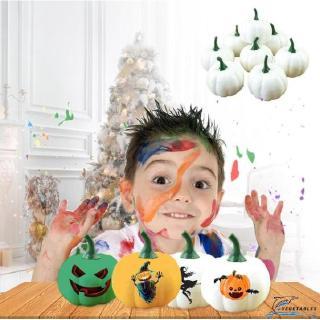 VD ❀6PCS Halloween Artificial Mini Foam Pumpkin Simulation Props Kitchen Decorate Vegetable
