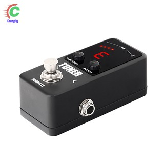 Tuner Mini Guitar Effect Pedal With Display Analog Rotary Speaker Tuner Chromatic Pedals Guitars Parts & Accessories