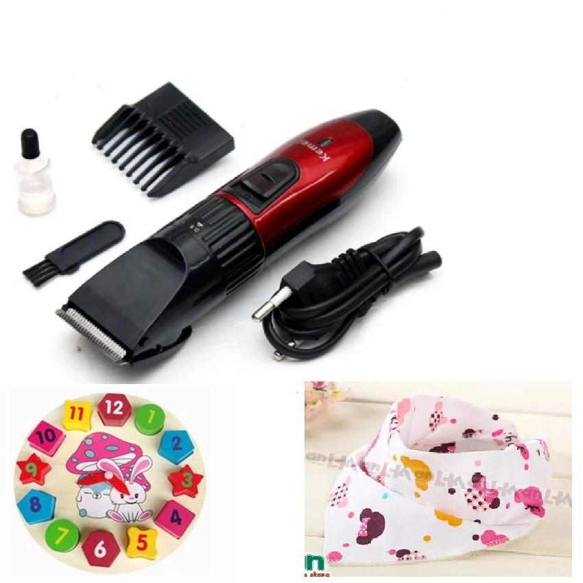 Tông đơ cắt tóc trẻ em Kemei 730 tặng 1 đồng hồ ghép gỗ chọn hình cho bé - 10024625 , 124037895 , 322_124037895 , 150000 , Tong-do-cat-toc-tre-em-Kemei-730-tang-1-dong-ho-ghep-go-chon-hinh-cho-be-322_124037895 , shopee.vn , Tông đơ cắt tóc trẻ em Kemei 730 tặng 1 đồng hồ ghép gỗ chọn hình cho bé