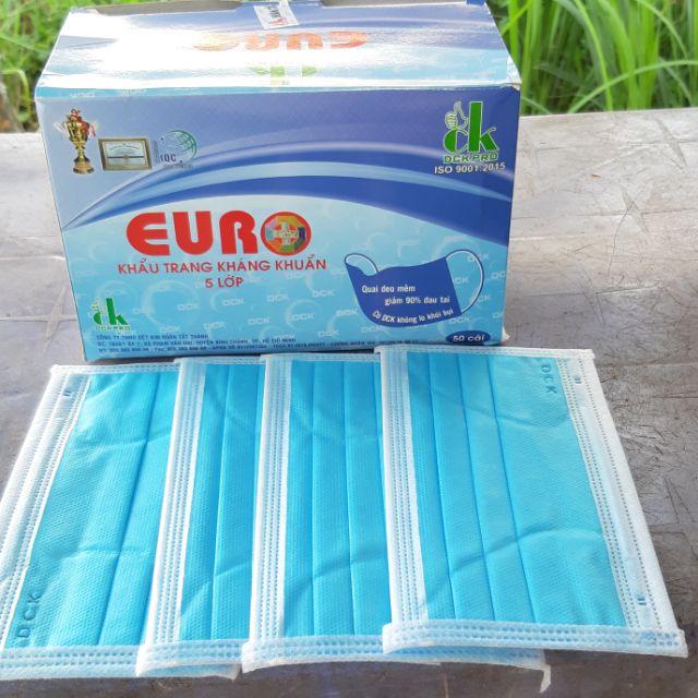 Khẩu trang kháng khuẩn 5 lớp EURO. Free ship cho đơn hàng trên 200k nhé