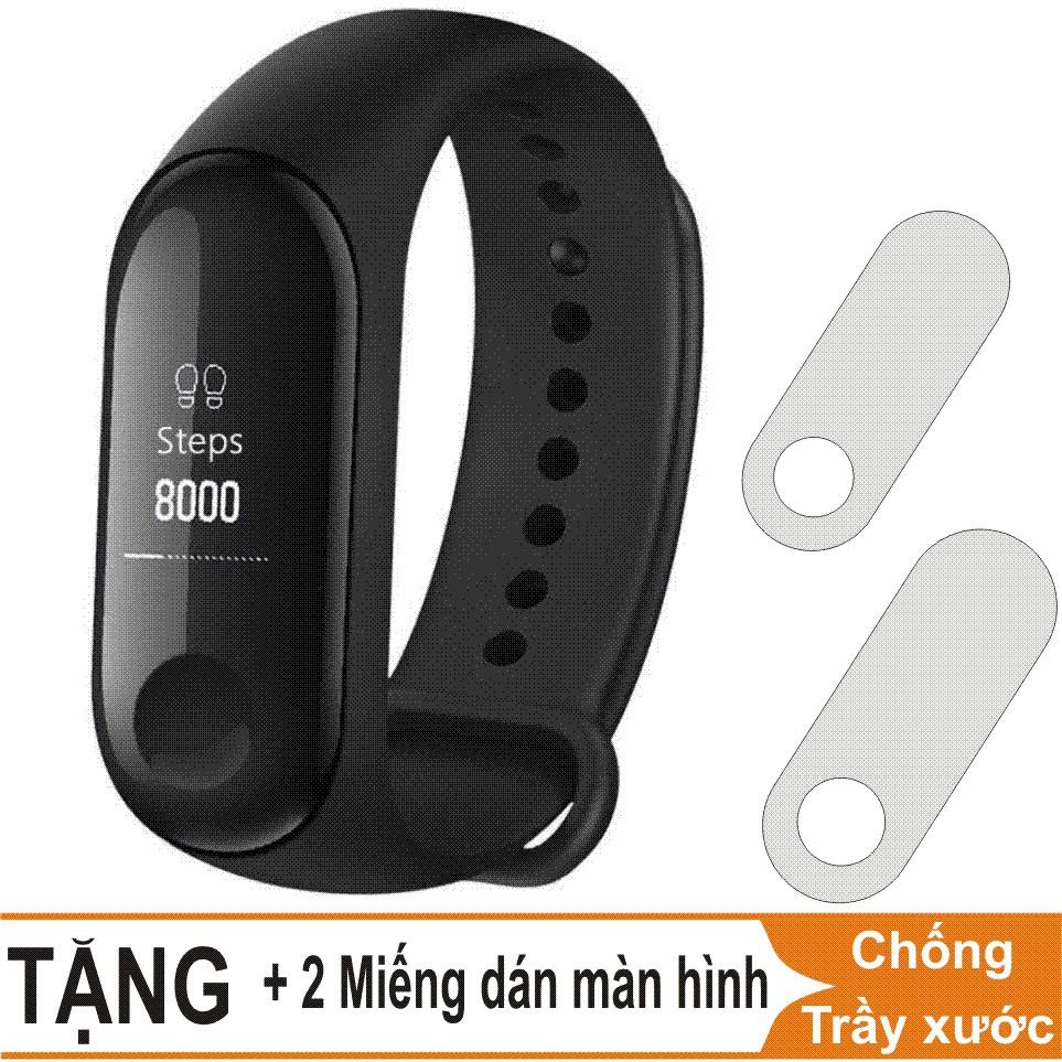 Vòng đeo tay thông minh Xiaomi Mi Band 3, Miband3, Mi band3 (Đen) + 2 Miếng dán màn hình - 3459900 , 1223271520 , 322_1223271520 , 980000 , Vong-deo-tay-thong-minh-Xiaomi-Mi-Band-3-Miband3-Mi-band3-Den-2-Mieng-dan-man-hinh-322_1223271520 , shopee.vn , Vòng đeo tay thông minh Xiaomi Mi Band 3, Miband3, Mi band3 (Đen) + 2 Miếng dán màn hình