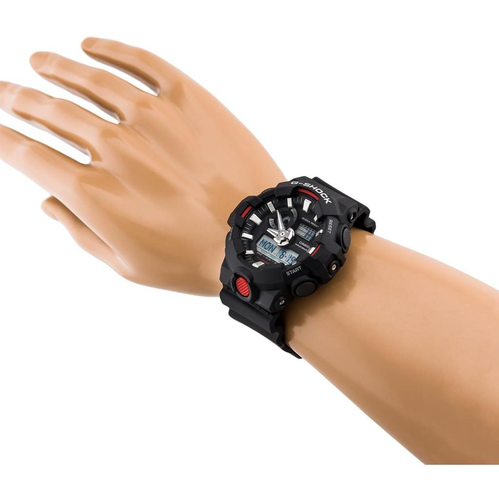 Đồng hồ nam dây nhựa G-SHOCK chính hãng Casio Anh Khuê GA-700-1ADR