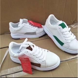 Giày thể thao nữ trắng đế phối màu đẹp