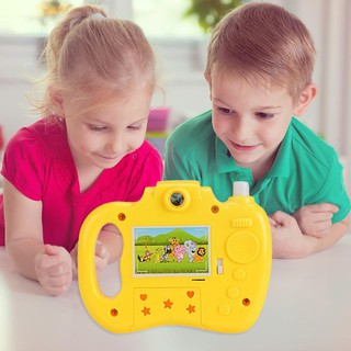 Cartoon Simulation Eight Light Patterns Projection Camera Toy for Children Projection Educational