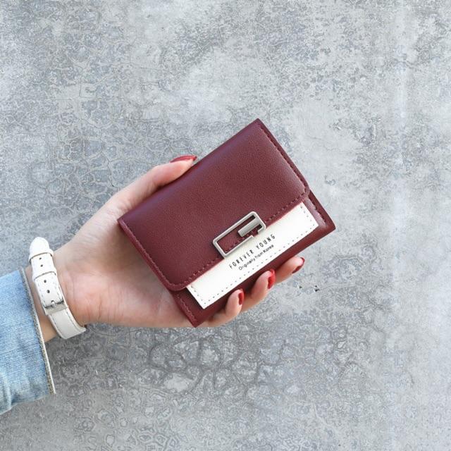 🔥Freeship 50K🔥 Ví nữ mini da lộn SENA cầm tay, nhỏ gọn bỏ túi đựng tiền DR868
