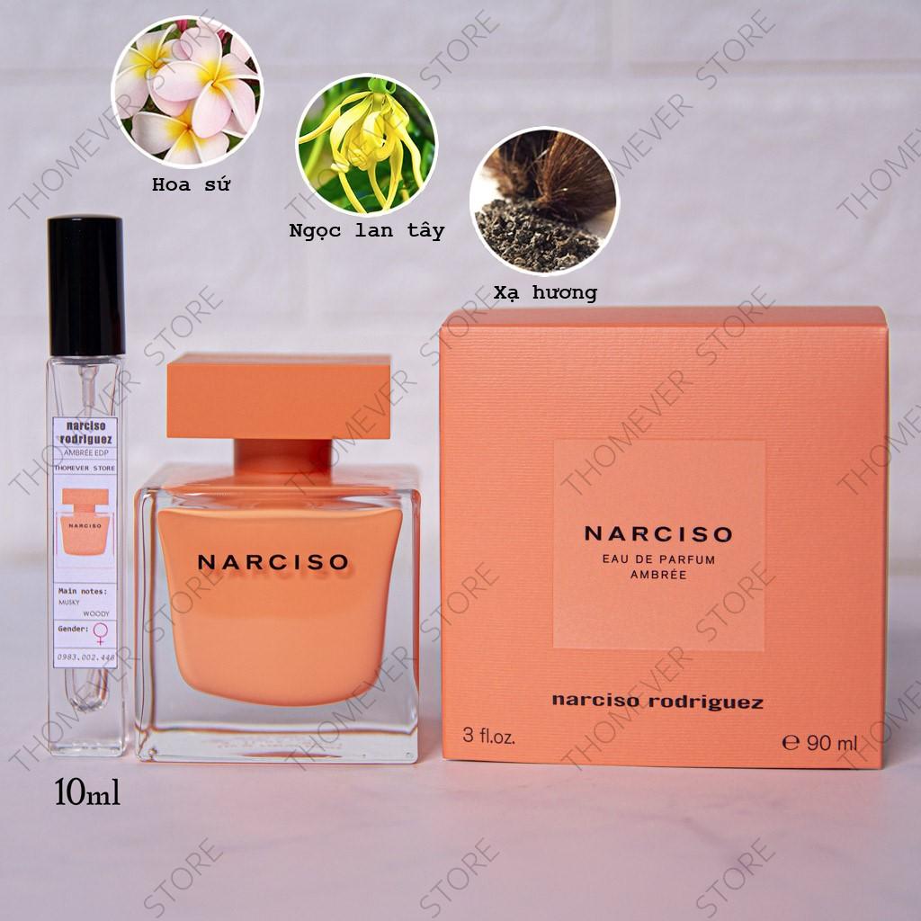 Nước Hoa Narciso Ambrée | Poudree  Eau de Parfum | CAM KẾT CHẤT LƯỢNG | AUTHENTIC 100% [Mẫu Thử