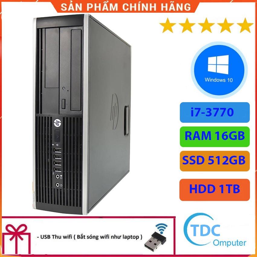 Case máy tính để bàn HP Compaq 6300 SFF CPU i7-3770 Ram 16GB SSD 512GB+HDD 1TB Tặng USB thu Wifi, Bảo hành 12 tháng
