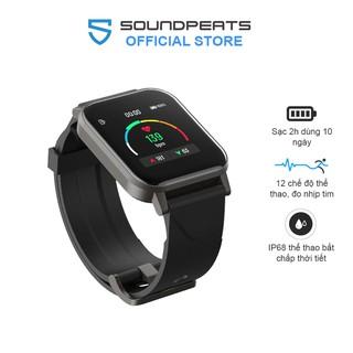 Đồng hồ thông minh SoundPEATS Watch 1-Pin 10 ngày, Theo dõi nhịp tim, 12 chế độ tập luyện