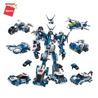 [HÀN CÔNG TY] Bộ xếp hình 6 in 1 Lego Qman 1407- Chiến binh thần tốc- Robot biến hình cực đỉnh