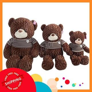 [HOT] Gấu Teddy Áo Len Màu Socola Khổ Vải 1m2 cao thật 1m