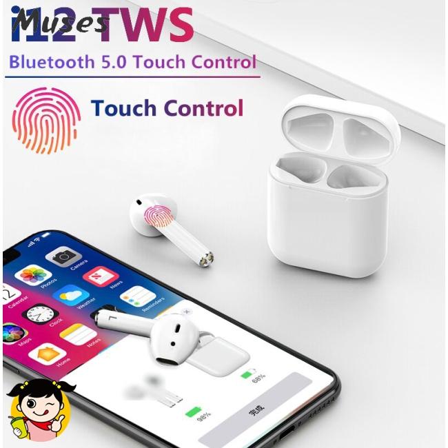 Bộ tai nghe bluetooth 5.0 không dây I12 TWS cho Iphone/Samsung