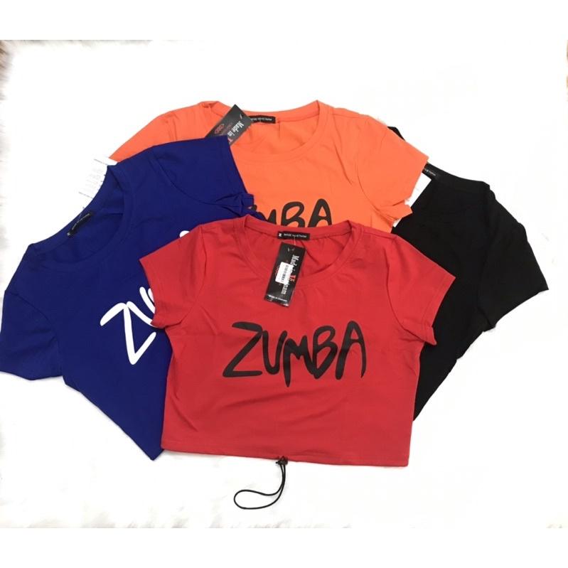 Mặc gì đẹp: Năng động với Bộ Áo croptop Quần lửng Zumba cotton 100% (đồ tập gym-yoga-zumba)