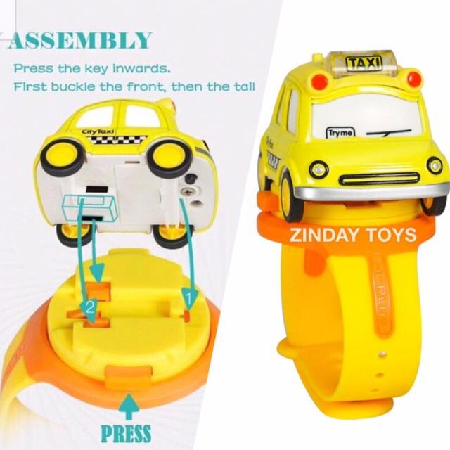 นาฬิกาข้อมือรถเหล็กมีเสียง มีไฟ Watch Metal Induction Toy Car