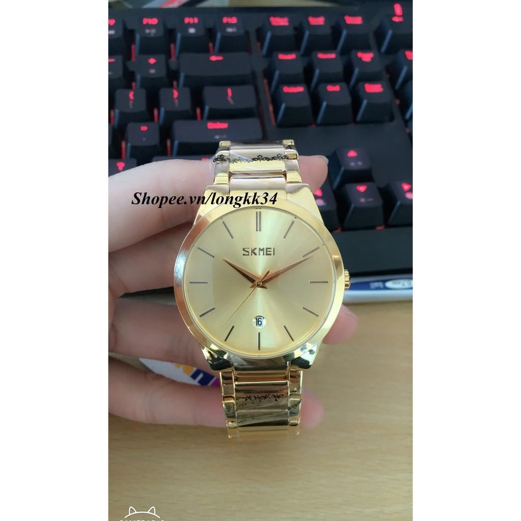 Đồng hồ Nam Skmei 9999 dây vàng mạnh mẽ phong cách trẻ trung