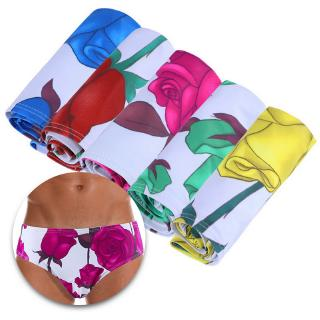 Men's Brief Swimsuit Low Rise Quick Dry Beach Floral Swimwear Bikini Briefs Surf Shorts Trunks