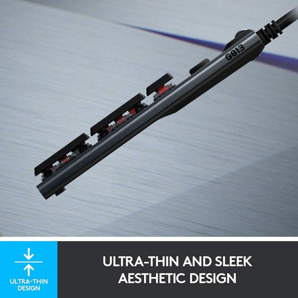 [Mã 267ELSALE1 giảm 5% đơn 3TR] Bàn Phím Cơ Gaming Logitech G813 LIGHTSYNC RGB GL Clicky   GL Linear   GL Tactile