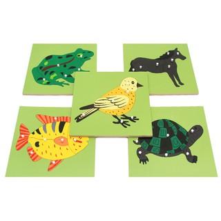 Xếp hình Montessori con vật, cây cối có núm
