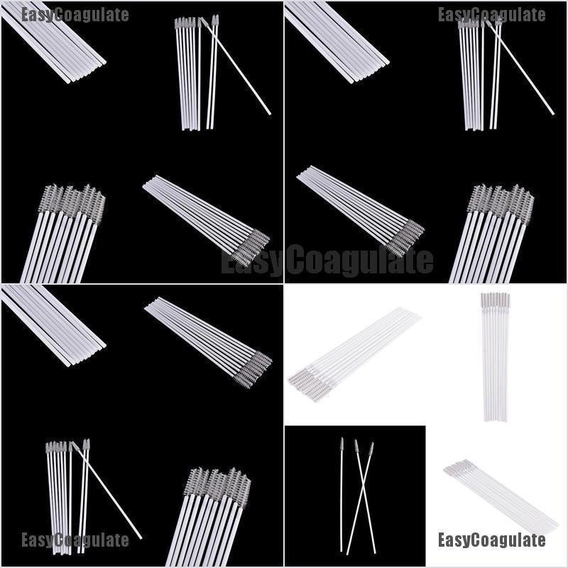 EasyCoagulate New 10pcs Stainless Steel Straw Reusable Washable Cleaner Cleaning Brush