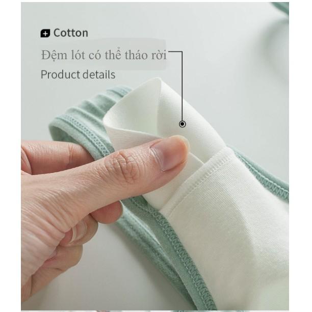 Áo Ngực Cho Con Bú Cúc Bấm, Chất Sợi Tre Cotton Thông Hơi Cao Cấp - AL13