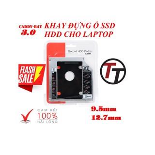 [Mã ELFLASH5 giảm 20K đơn 50K] Caddy Bay HDD SSD SATA 3 9.5mm - 12.7mm - Khay Ổ Cứng Thay Thế Ổ DVD