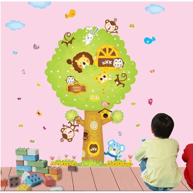 Decal cây của thú rừng - 60x90