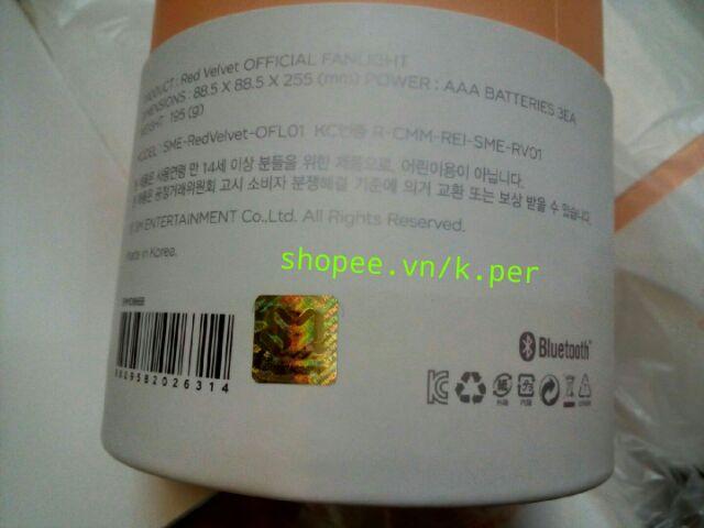 [CÓ SẴN] (Nhập TOYMAY tặng 10k xu) RED VELVET Official Light Stick (đèn cổ vũ) | Hàn Quốc | phát...