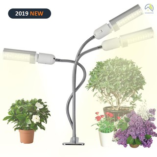 ●Led Grow Light Grow Lamp Bulb for Indoor Plants 30W Super Bright 150 LEDs Sunlike Full Spectrum Auto ON & Off with 3 / 6 / 12H Timer 5 Dimmable Levels Clip-On Desk Replaceable Bulb Three-headed 360° Flexible Gooseneck