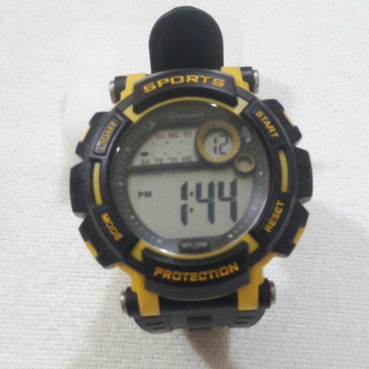 Đồng hồ Điện tử Mingrui Sport nam nữ Đồng hồ dây da, đồng hồ chống nước