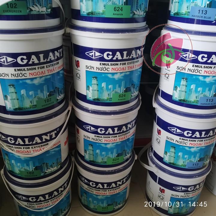 Sơn nước ngoại thất Galant màu xanh 113 1kg