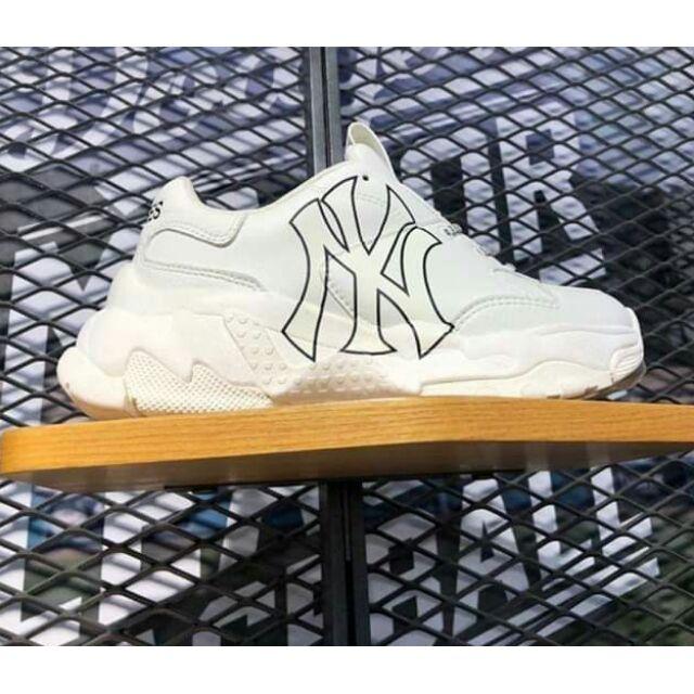 Giày thể thao mlb NY trắng cao cấp