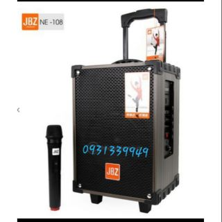 Loa kéo Jbz 108 ..2 tấc kèm 1 mic ko dây + cục sạc + dây cáp 2 đầu 3.5li + remto ..giá lẻ bằng giá sĩ..tại shop Huy Hân