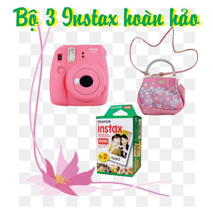 Combo Máy ảnh chụp lấy liền Fujifilm Instax mini 9 + túi xách Instax - Tặng kèm 10 tấm Film Fujifilm Instax mini 9