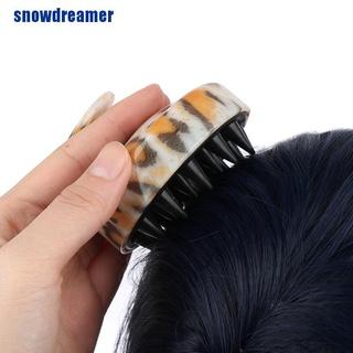 [SNDR] Silicone Scalp Shampoo Massage Brush Washing Shower Hair Massager Clean Brush MME