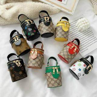 Túi Trống mini đeo chéo cho mẹ và bé Túi Đeo Chéo Nữ Mini Dáng Hộp Tròn Chuẩn Form Nhỏ Xinh