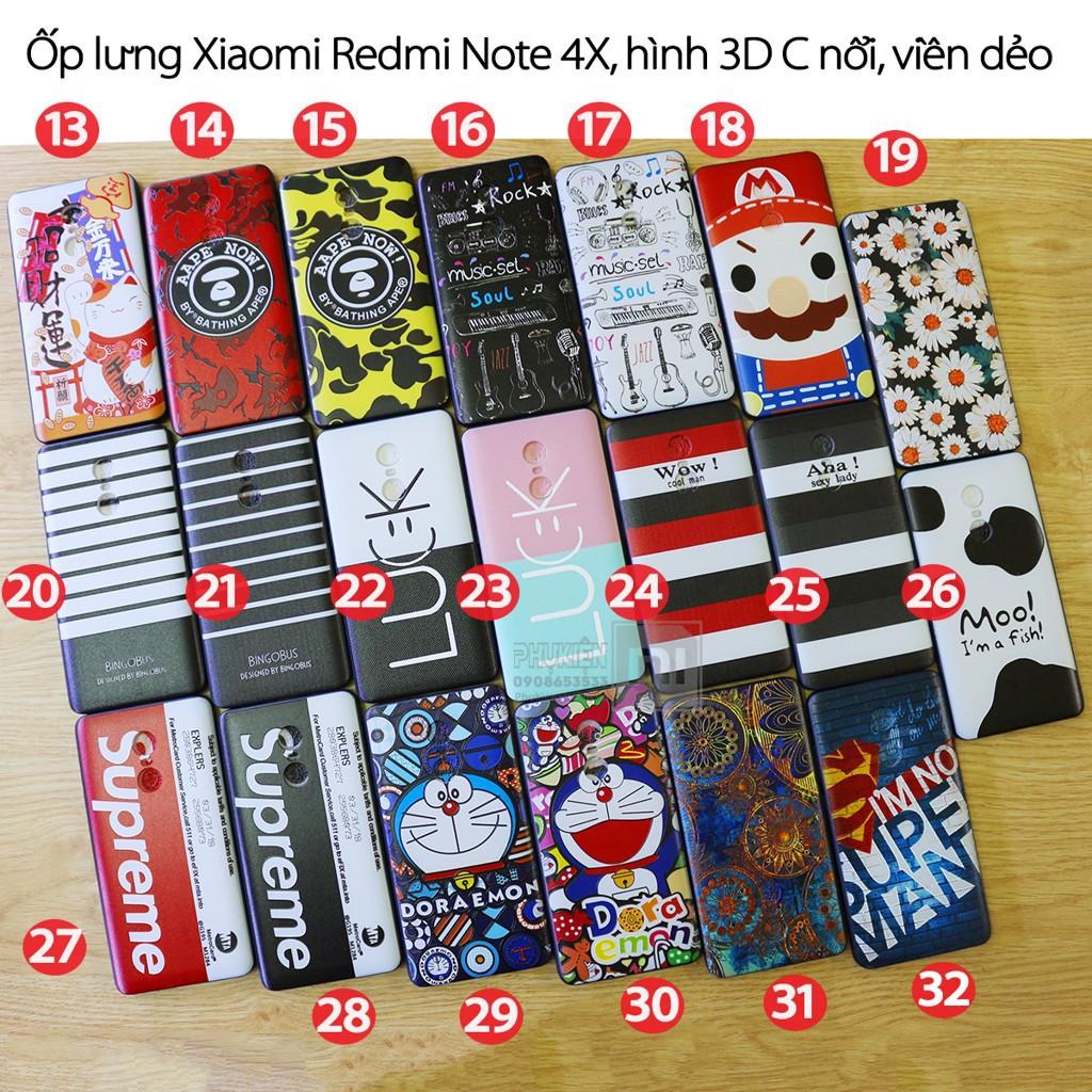 Ốp lưng Xiaomi Redmi Note 4X (Note 4 625 mua tại TGDĐ) Hình 3D (C) chống vân tay viền TPU dẻo - 3422786 , 888815067 , 322_888815067 , 69000 , Op-lung-Xiaomi-Redmi-Note-4X-Note-4-625-mua-tai-TGDD-Hinh-3D-C-chong-van-tay-vien-TPU-deo-322_888815067 , shopee.vn , Ốp lưng Xiaomi Redmi Note 4X (Note 4 625 mua tại TGDĐ) Hình 3D (C) chống vân tay viền