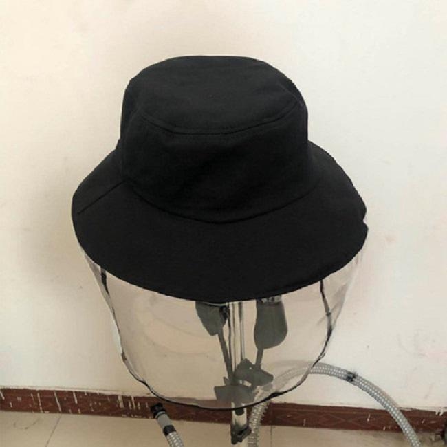 Mũ chống giọt bắn phòng dịch, nón kính chắn tháo rời vành tròn/ lưỡi trai