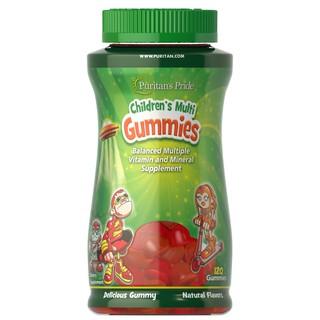 Viên nhai Vitamin va khoa ng châ t vi hoa qua cho trẻ puritan s pride Children s Multivitamins Gummies 60 viên