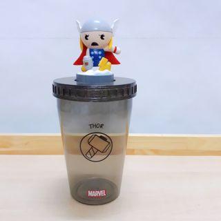 1 ly + 1 Nắp gắn Topper Chibi (Thor, Hulk, Spider-Man, IronMan)