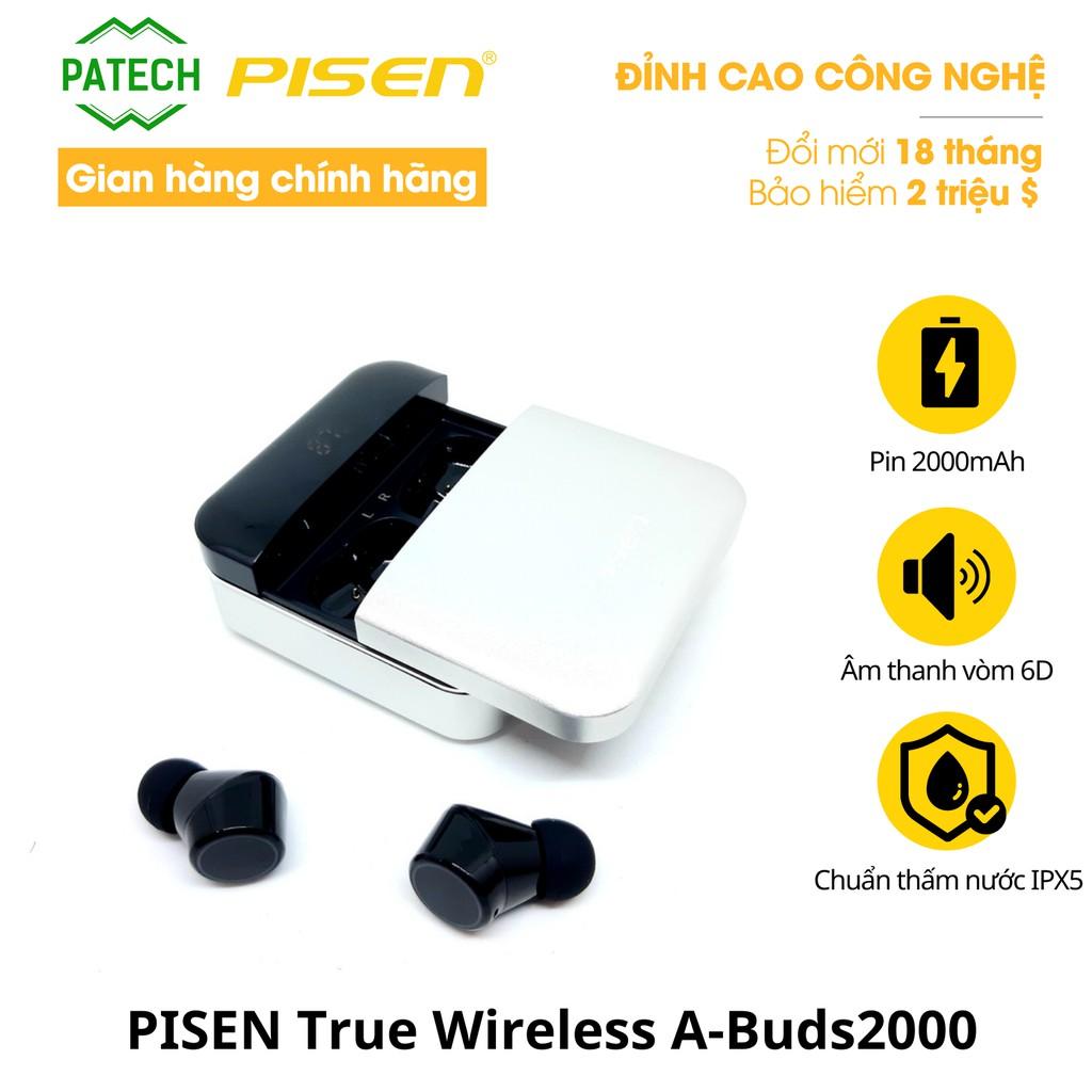 [Mã ELTECHZONE giảm 5% đơn 500K] Tai nghe không dây PISEN True Wireless A-Buds2000 - Hàng Chính Hãng