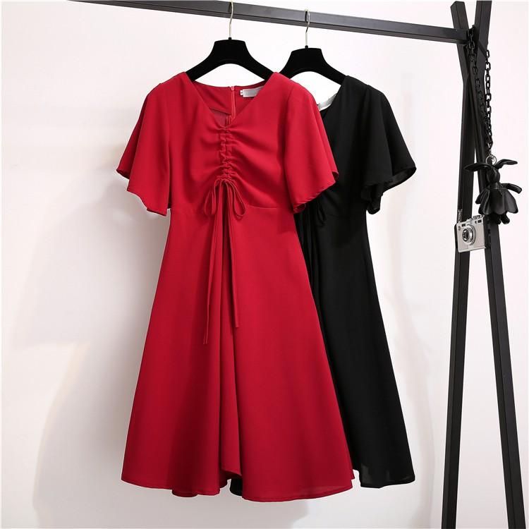 Váy xòe rút ngực hàng Quảng Châu cao cấp