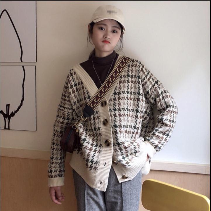 áo len nữ tay dài cổ chữ v thời trang quyến rũ