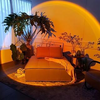 ►❐☃Đèn hoàng hôn Chụp ảnh bầu không khí chiếu sáng mặt trời lặn Netwet đỏ sàn phòng ngủ rơi
