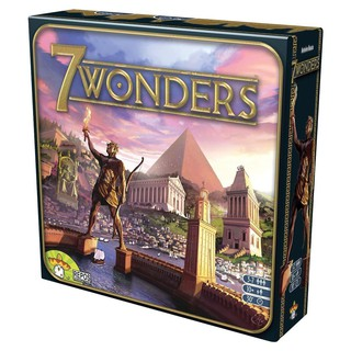7 wonders board game family friends playing cards