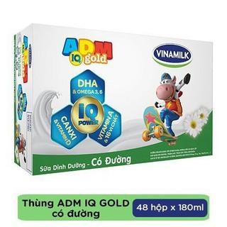 Sữa tiệt trùng ADM Gold thùng 48 hộp x 180ml (Có đường) thumbnail