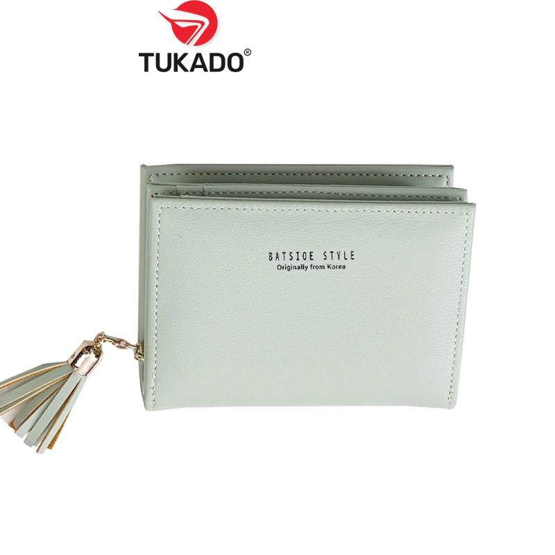 Ví Nữ Ngắn Mini Cầm Tay 𝐁𝐀𝐓𝐒𝐈𝐎𝐄 Nhiều Ngăn Kiểu Dáng Thời Trang Chất Da Cực Đẹp BS02 - Tukado