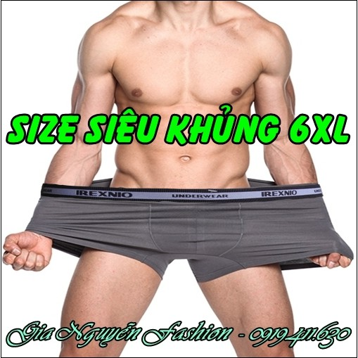 SIZE ĐẠI [6XL] Bộ 4 chiếc - Quần lót nam Dành riêng cho người mập